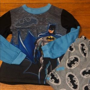 Batman Long Sleeve Pajama Set Size Small